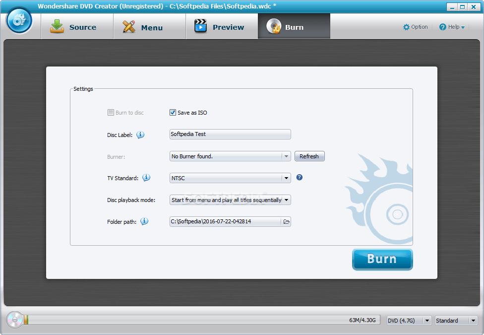 Wondershare DVD Creator 6.2.9 Serial Number