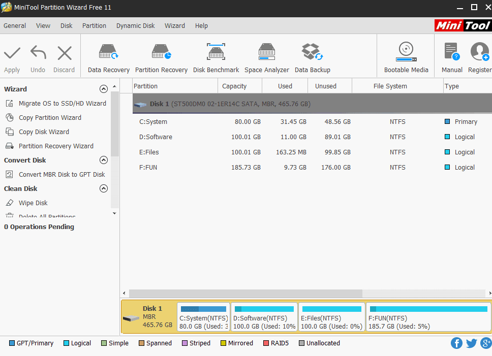 MiniTool Partition Wizard 11.6 With Serial Key
